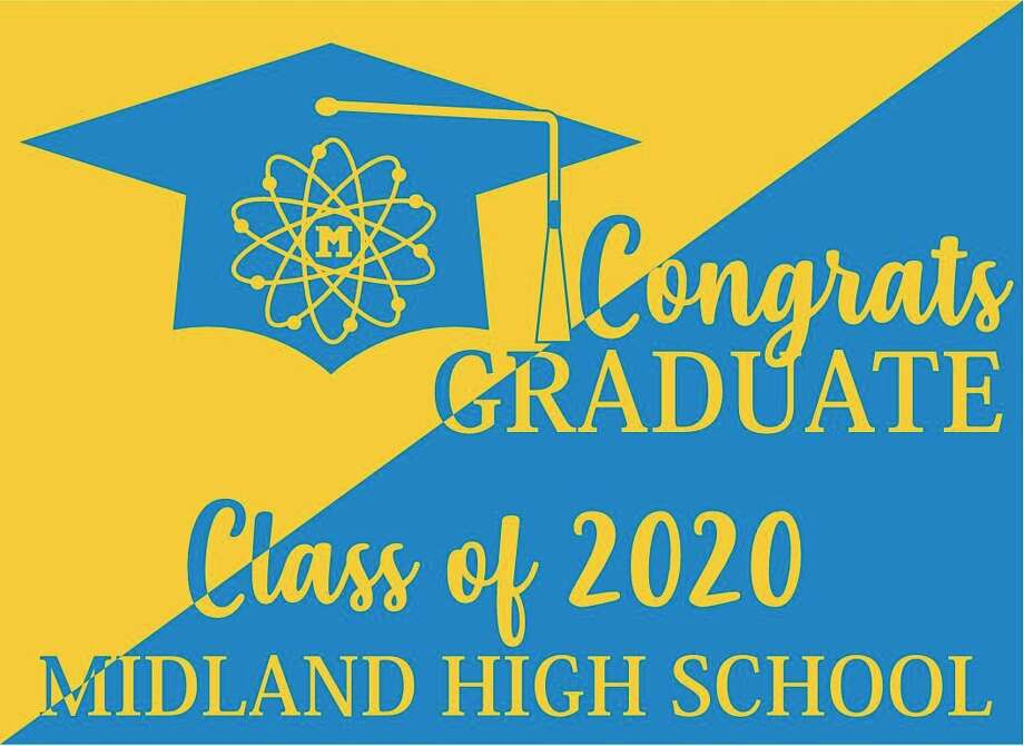 The Midland High School Athletic Booster Club will provided these yard signs free to all 367 Midland High seniors. (Image provided)