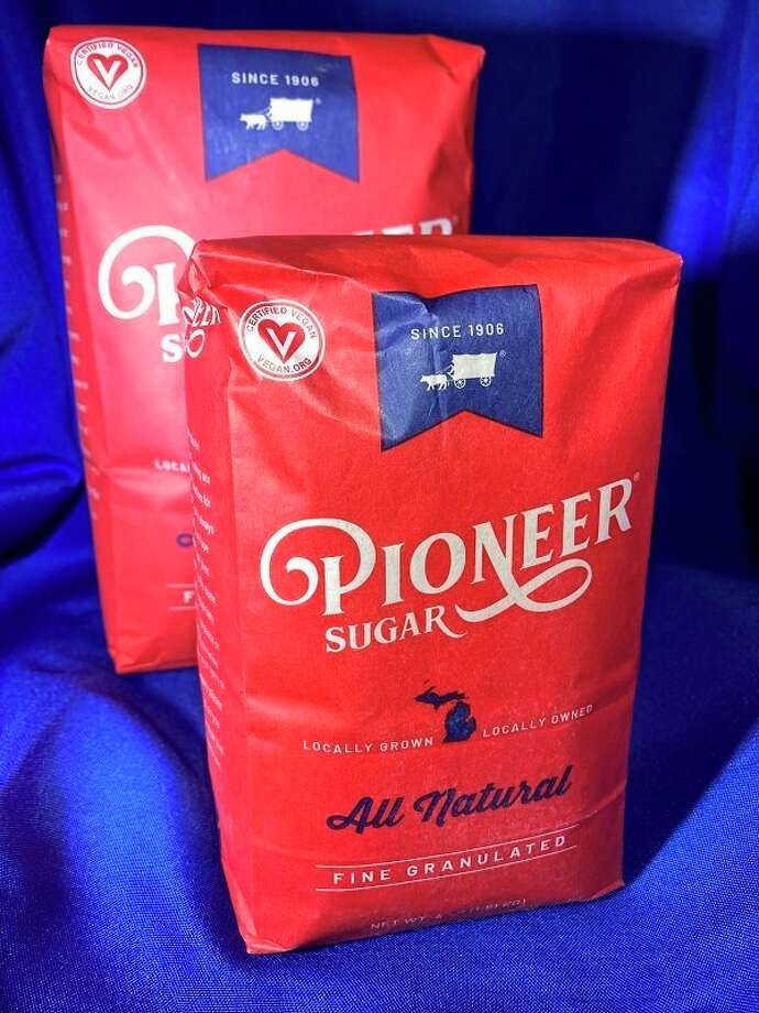 Michigan Sugar Company has a new line of red colored Pioneer Sugar bags for retail customers. The red bags have blue and white accents and feature the traditional ox and wagon logo used by Pioneer Sugar for decades. (Submitted Photos)