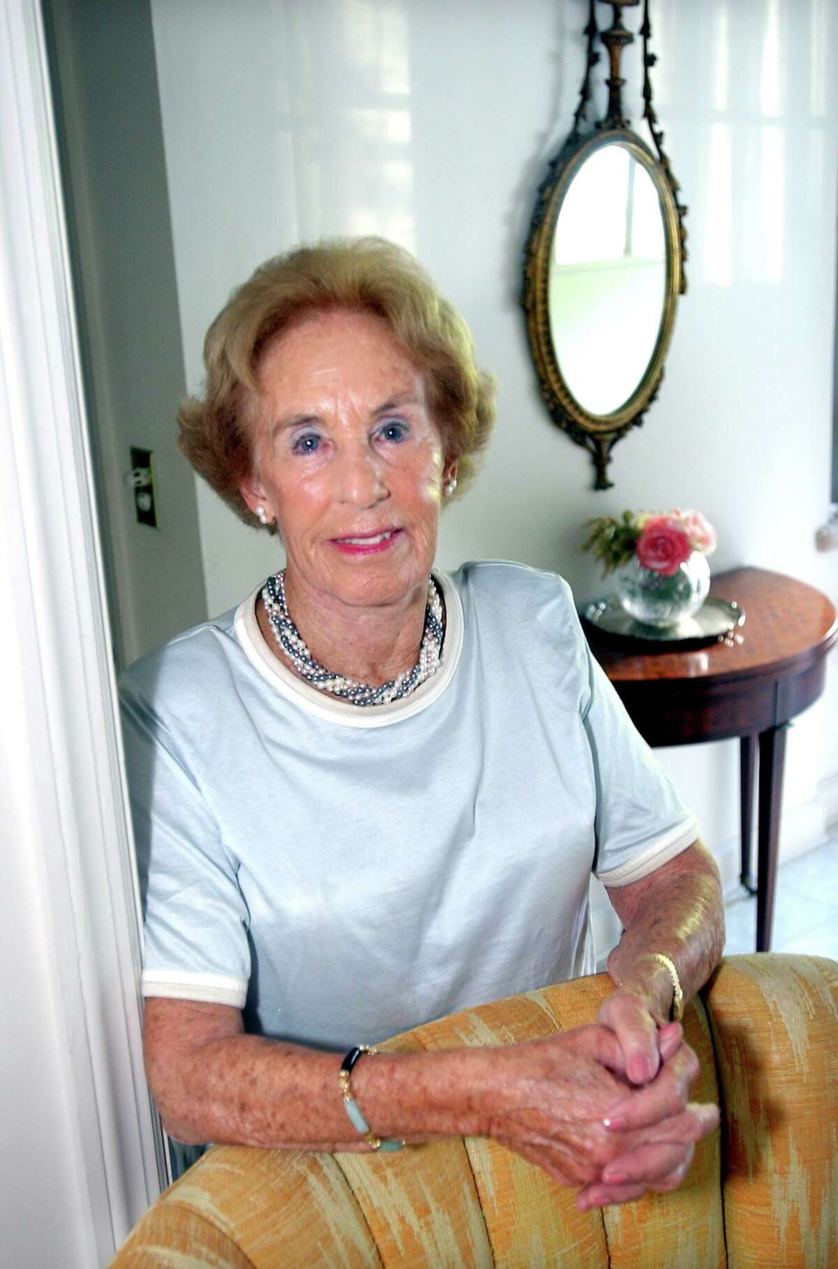 Louise Endel photographed at her home in North Haven in 2004.