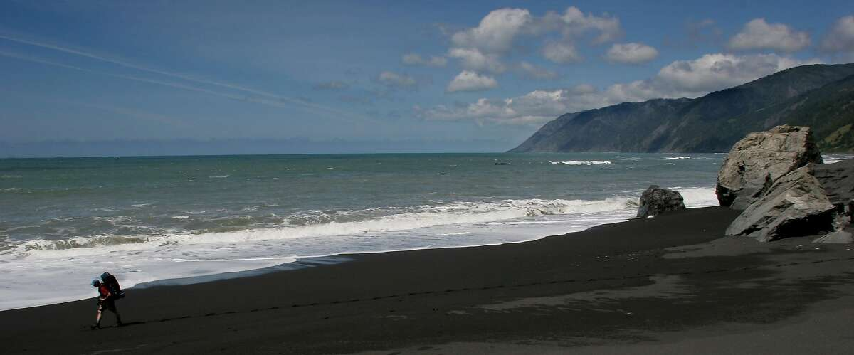 A woman has died after being swept out to sea off the coast of Humboldt County, shown here in this file photo.