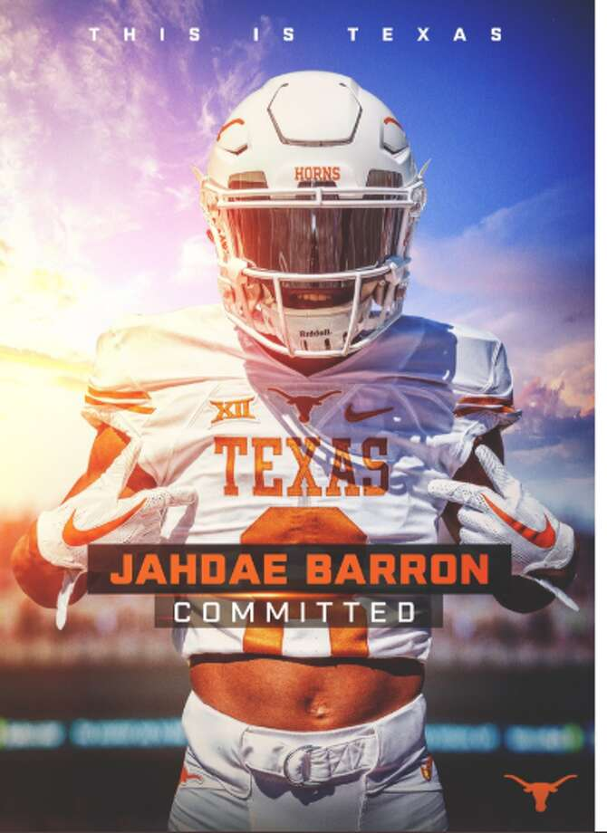 Pfluggerville Connally CB Jahdae Barron commits to Texas. Photo: Http://Twitter:%20@daethereaper/