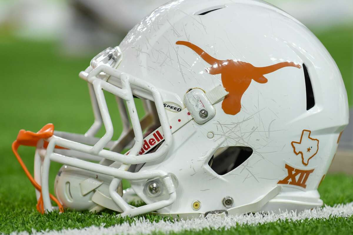 HOUSTON, TX - DECEMBER 27: A Texas Longhorns helmet awaits the next series during the Texas Bowl game between the Texas Longhorns and the Missouri Tigers on December 27, 2017 at NRG Stadium in Houston, Texas. (Photo by Ken Murray/Icon Sportswire via Getty Images)