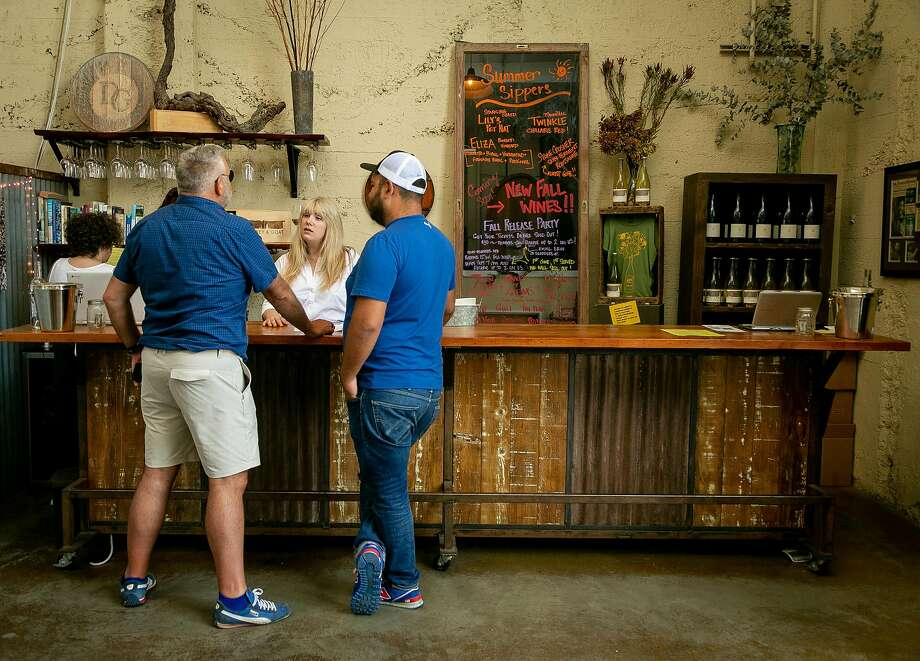 Donkey & Goat Winery depended on its tasting room, seen here in 2018, for much of its revenue pre-coronavirus. Photo: John Storey / Special To The Chronicle 2018