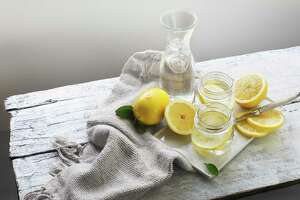 Drinking a lot of water will help keep your nutrition on track during social distancing. Marci Sharif suggests adding lemon.