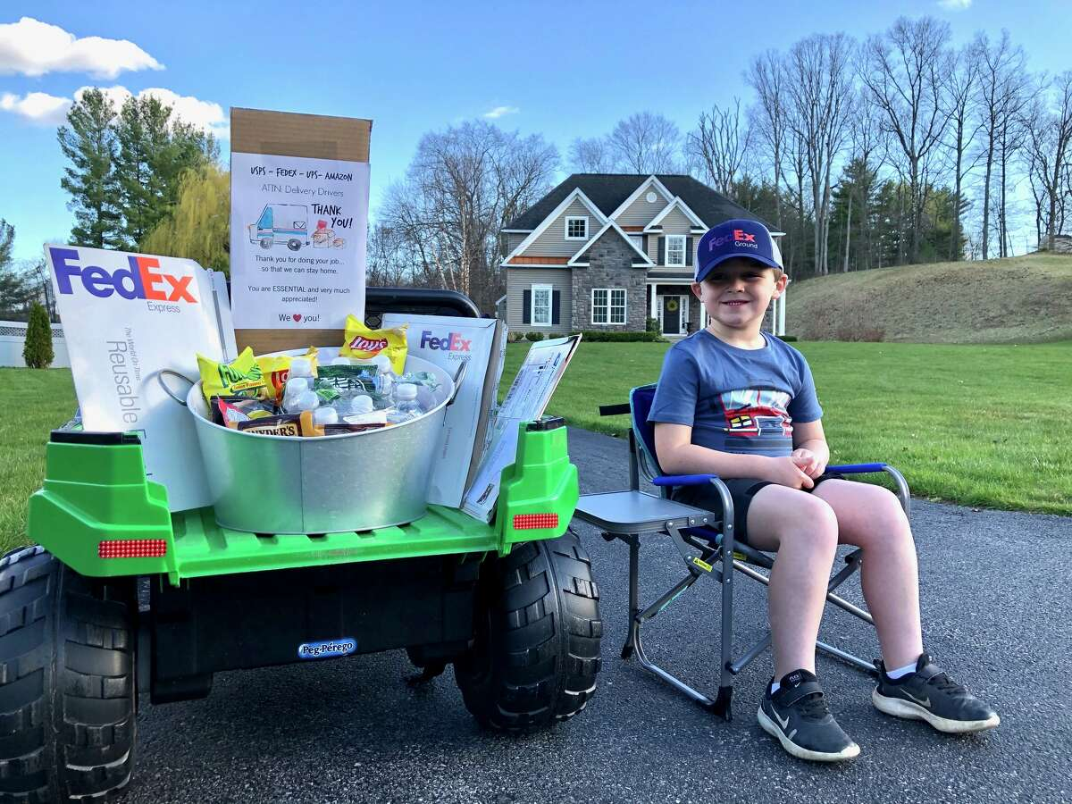 Jack Mahar loves delivery trucks and the people who drive them. The 5-year-old's idea? To set up a refreshment stand, of sorts, for delivery drivers. Read story.