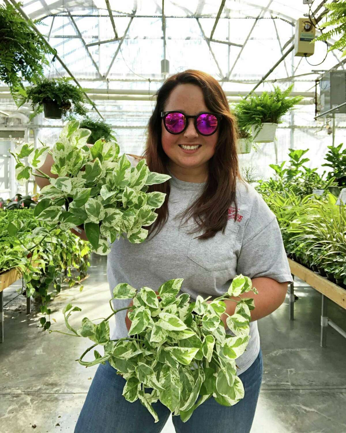 Maggie Bridge, manager of sales and marketing, at Sam Bridge Nursery & Greenhouses, a garden center in Greenwich.