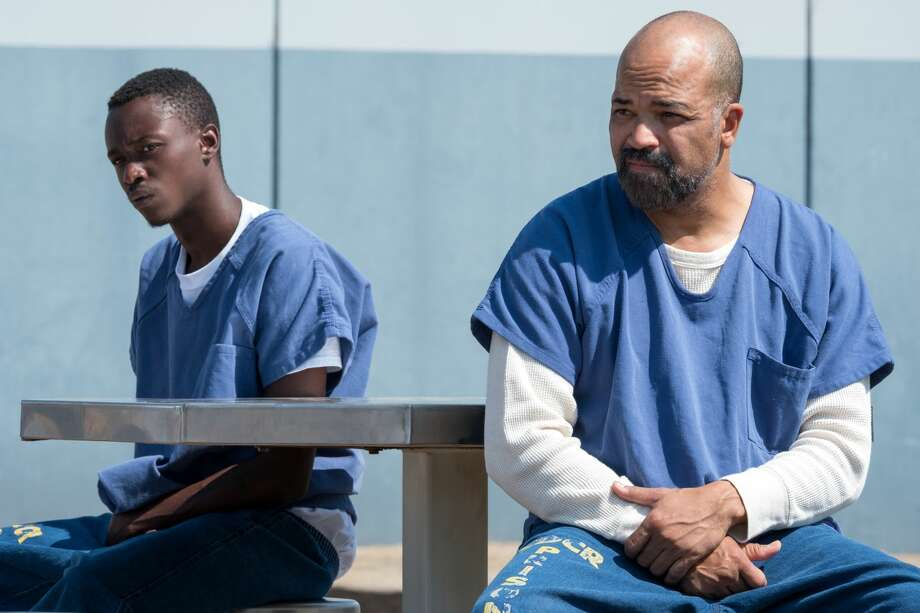 All Day And A Night - Ashton Sanders as Jahkor, Jeffrey Wright as J.D. Photo: Matt Kennedy/Netflix / Matt Kennedy / ? 2020 Netflix