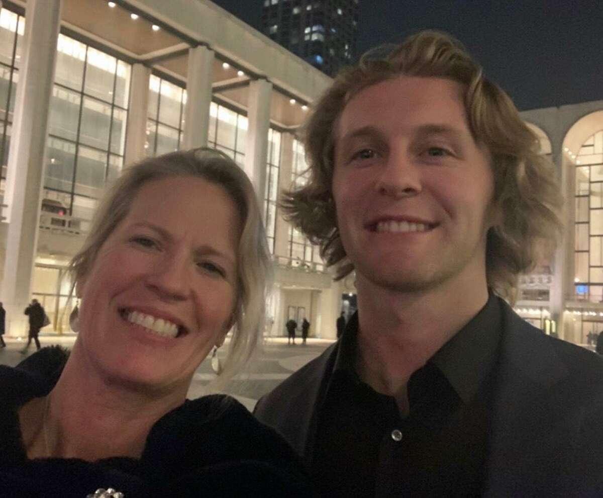Yale lacrosse standout Konrad Collins with his mom Kristin.