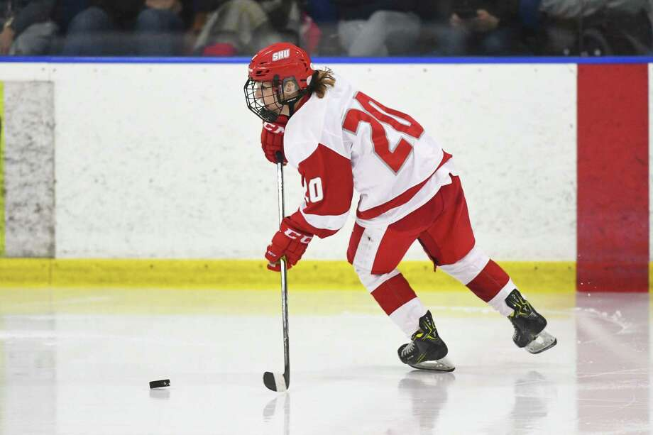 Sacred Heart's Maddie Bishop was selected by the Connecticut Whale in the fifth round of the NWHL draft. Photo: Sacred Heart Athletics / Contributed Photo