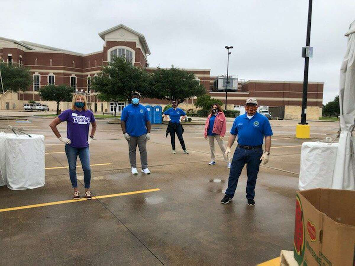 The mega food distribution on April 29, hosted by Houston Food Bank and Cy-Hope in the Berry Center parking lot, served 7,500 meals to families in the wake of the COVID-19 pandemic.