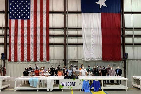 Wildcat PPE employees at a job fair April 24 in Tomball. The new company is looking to acquire a facility in Tomball and bring about 300 new jobs to the area.