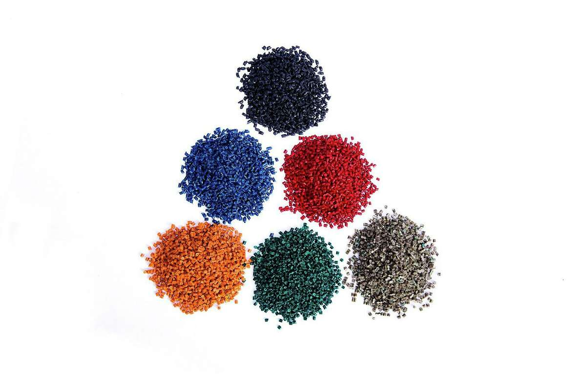 Thermoplastic pellets made from mixing household waste with old plastic bottles by UBQ Materials, an Israeli company with plans to expand in the United States. The pellets can be mixed with standard resins to reduce the carbon footprint of virgin plastic products or used on their own.