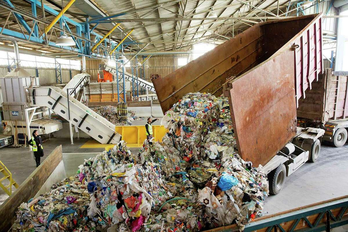 Solid waste and old plastic being processed to make a plastic substitute. UBQ Materials processes household waste and old plastic bottles to create thermoplastic pellets that can be substituted for standard plastic. The Israeli company plans to soon expand in the United States. The pellets can be mixed with standard resins to reduce the carbon footprint of virgin plastic products or used on their own.