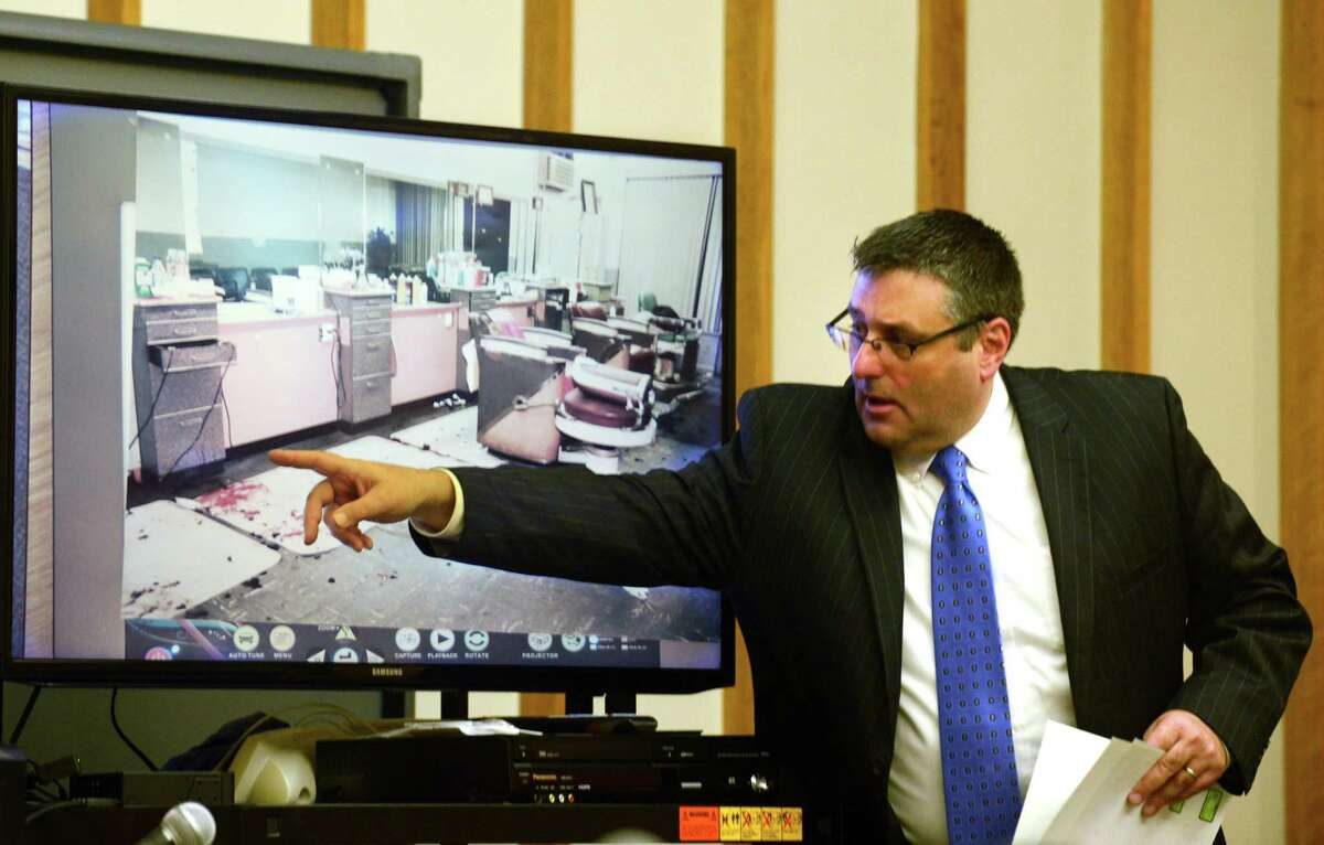 Joseph Corradino during the murder trial of Russell Peeler Jr.