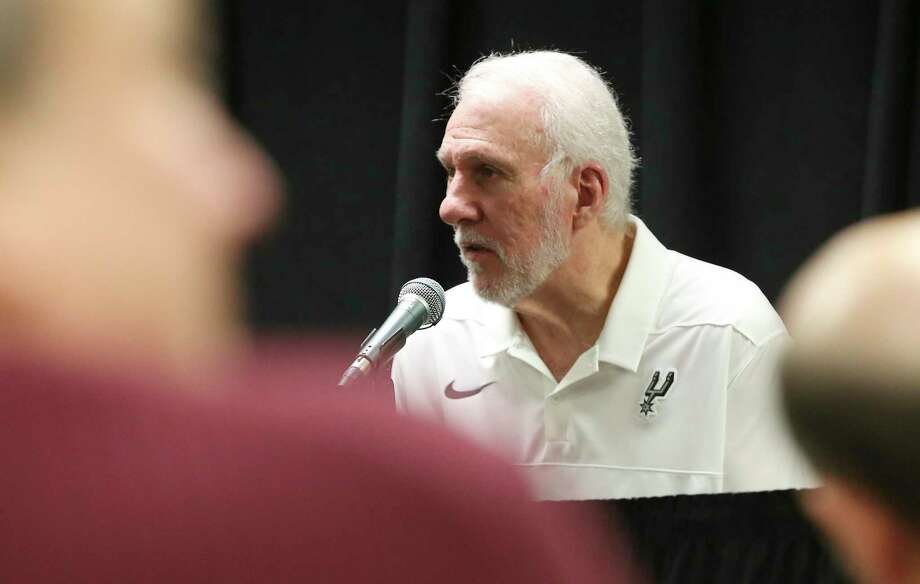 Spurs Coach Gregg Popovich has been named to a committee of NBA coaches who will start working with local leaders and law enforcement following the death of George Floyd. Photo: Kin Man Hui /Staff Photographer / **MANDATORY CREDIT FOR PHOTOGRAPHER AND SAN ANTONIO EXPRESS-NEWS/NO SALES/MAGS OUT/ TV OUT