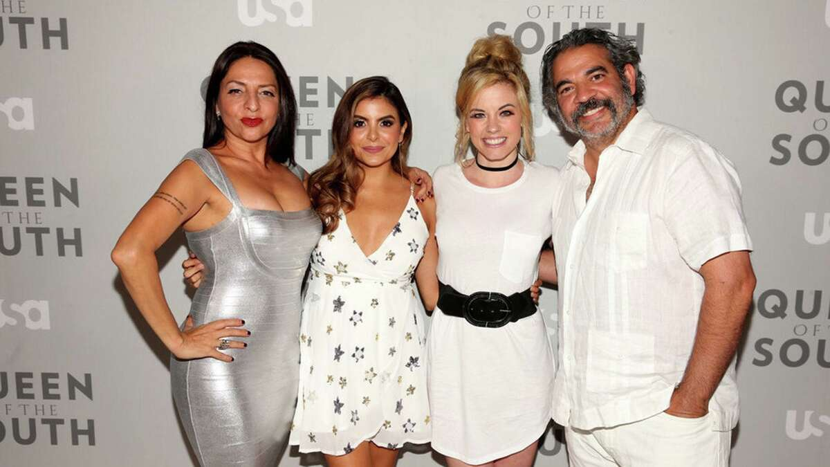 Valles is pictured here with a few of her castmates from