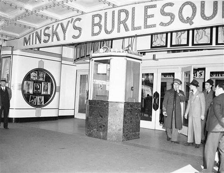 There was no rush at the box office at this theater in New York on May 1, 1937, the reason being that License Commissioner Paul Moss refused to renew the licenses of 14 burlesque houses where strip teaseres were practicing their art. (AP Photo)