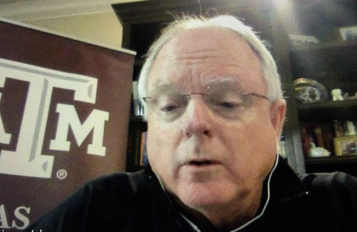 Texas A&M pandemic expert Gerald Parker during remote recording of Coronavirus Chronicle podcast April 29, 2020.