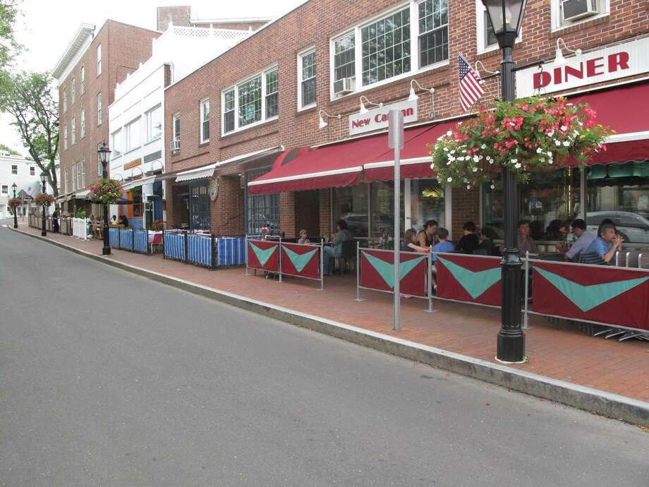 Part of Forest Street in New Canaan may be closed to accommodate outdoor dining at its restaurants, and others in the town. The dining is expected to resume May 20, 2020, amid the coronavirus pandemic. It could also include the town's Main Street, and Elm Street. Photo: Contributed Photo