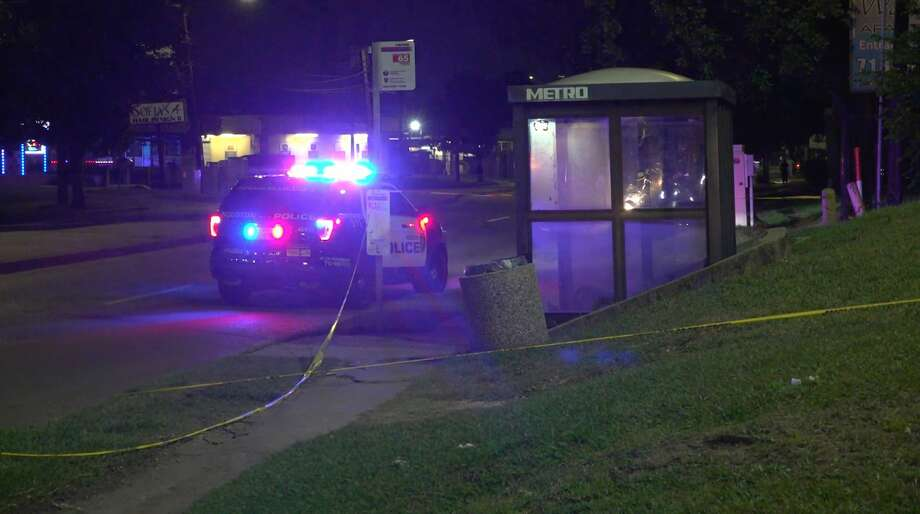 Houston police investigate after a 16-year-old boy was shot at a Metro bus stop Thursday, April 30, 2020. The Metro Police Department has since taken over the investigation. Photo: OnScene.TV