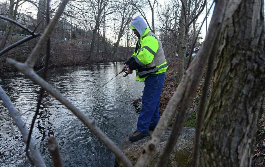 The state will be stocking the Norwalk River with trout. Fishing is a sport that lends itself to social distancing. Photo: Erik Trautmann / Hearst Connecticut Media / Norwalk Hour