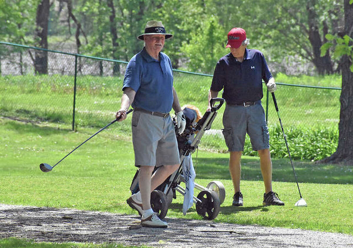 Golfers made their return to the area courses on Friday. It was the first day golf courses in Illinois were able to re-open since late March.
