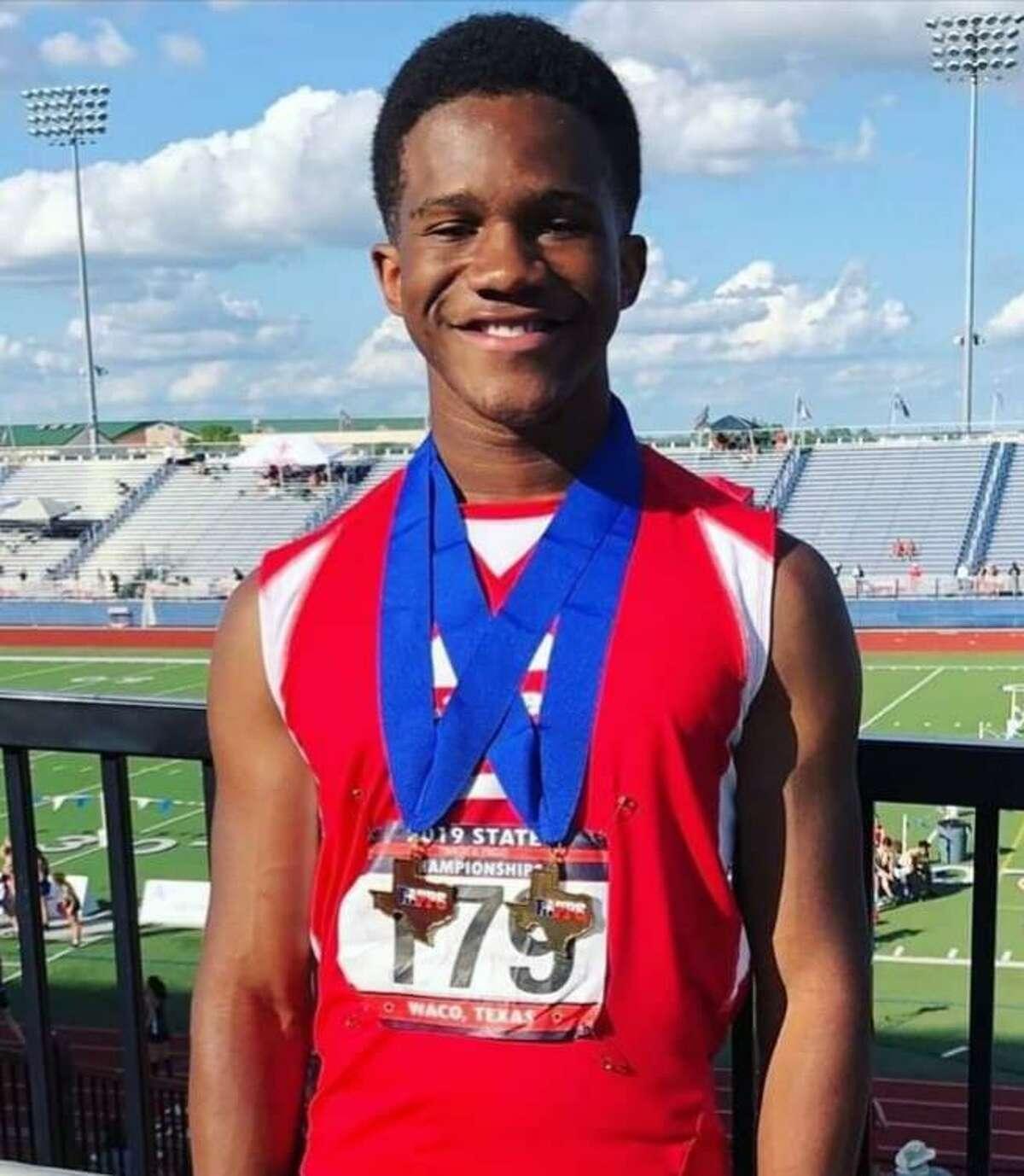 Calvary Baptist track athleteAntonio JeremiahOrozco.