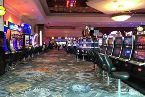 Parts of Foxwoods Resort Casino were nearly empty the day before the pandemic shutdown began on March 17.