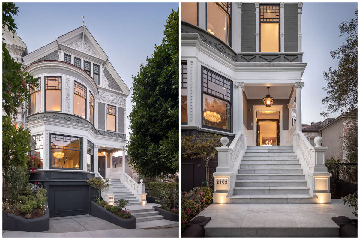 The five-bedroom, six-bathroom house at 2602 Pacific Avenue, originally designed by celebrated architect Samuel Newsom in 1889, has also been the site of various film shoots and once appeared in a Pottery Barn commercial.