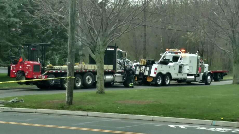 Route 155 was closed between Fowler Street and Lee Street in Middletown, Conn., on May 1, 2020, as police investigated a crash. Photo: Contributed Photo