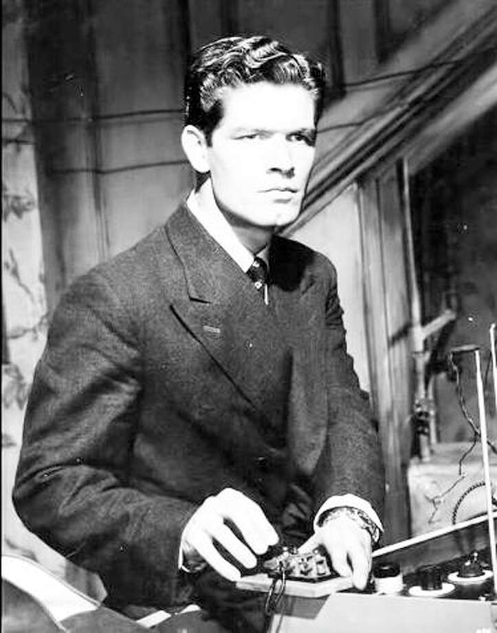 "A very young Stephen Boyd as Nazi spy Patrick O'Reilly, in 1956's ""The Man Who Never Was,"" his first movie role. Photo: Sumar Film Productions/20th Century Fox