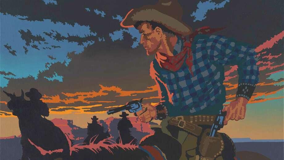 """""""La Vida Loca,"""" an oil painting by Western Pop artist Billy Schenck. Photo: Billy Schenck /Courtesy Briscoe Western Art Museum"""