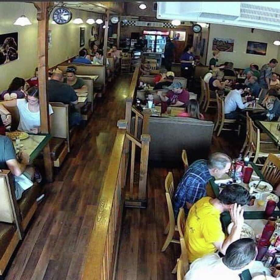 A typically large weekend crowd packs the North Main Diner in Edwardsville earlier this year. The restaurant reopened three weeks ago for carryout during the COVID-19 pandemic, but its business has been slow. Photo: For The Intelligencer