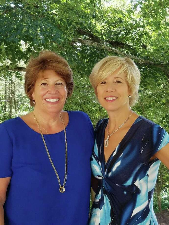 Roseann Benedict, left, and Nancy Carr are leading the Greenwich Virtual Sip and Shop, which features a number of offers from local beverage stores and retailers from May 1 to May 8, 2020. Photo: Contributed / Contributed Photo / Greenwich Time Contributed