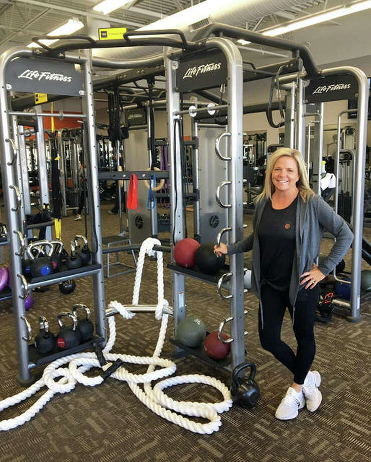 Carie Terry, owner of E'ville Fitness, poses in her gym last November. Photo: Intelligencer File Photo