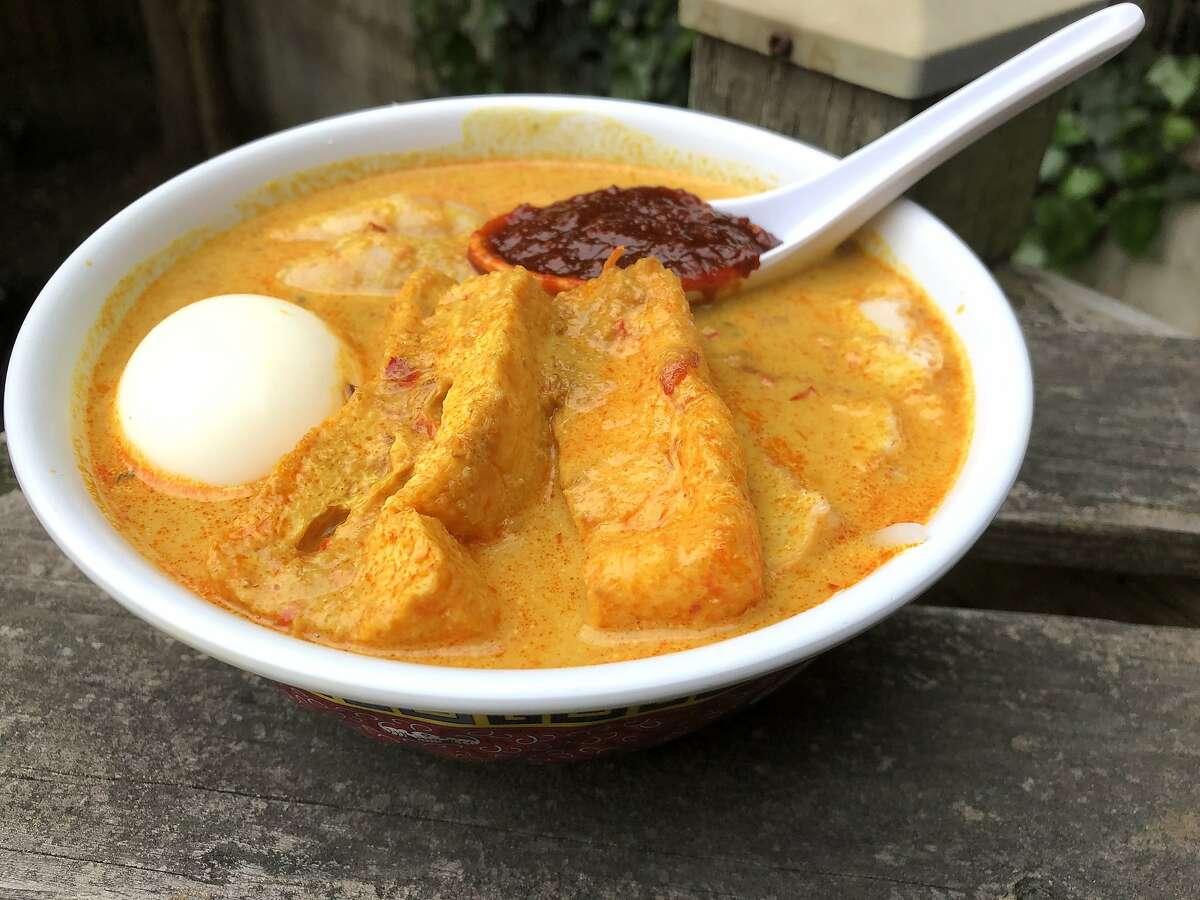 A bowl of laksa from San Francisco Singaporean pop-up Makan Place.