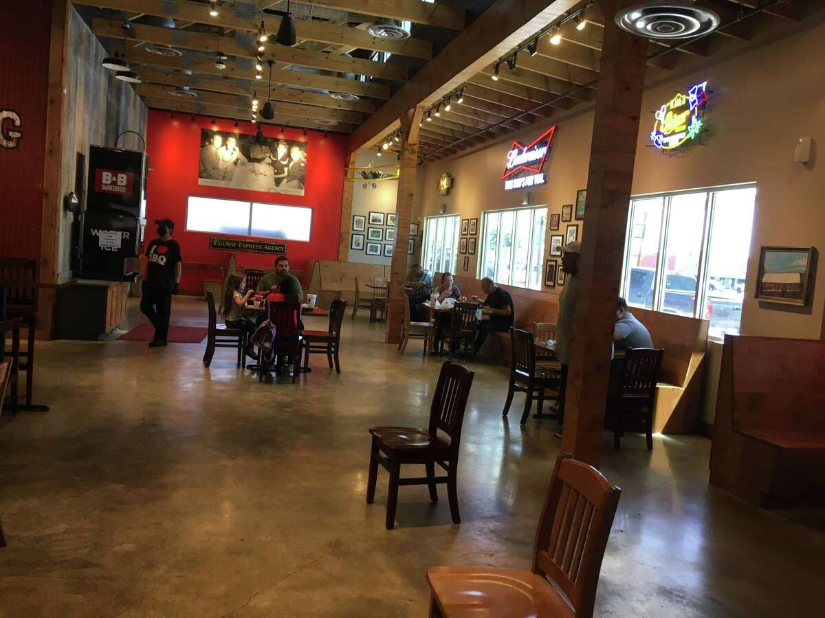 B&B Smokehouse, located at 2619 Pleasanton Road, opened up six tables for dine-in service Friday.