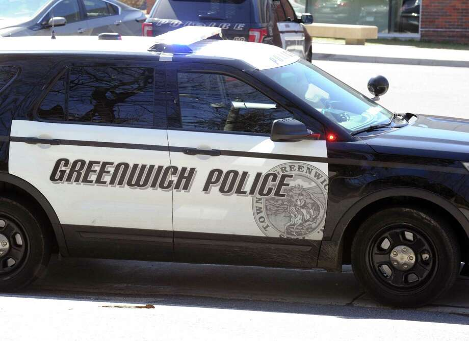 A Greenwich police car on March 29, 2017. Photo: File / Bob Luckey Jr. / Hearst Connecticut Media / Greenwich Time