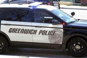 A Greenwich police car on March 29, 2017.