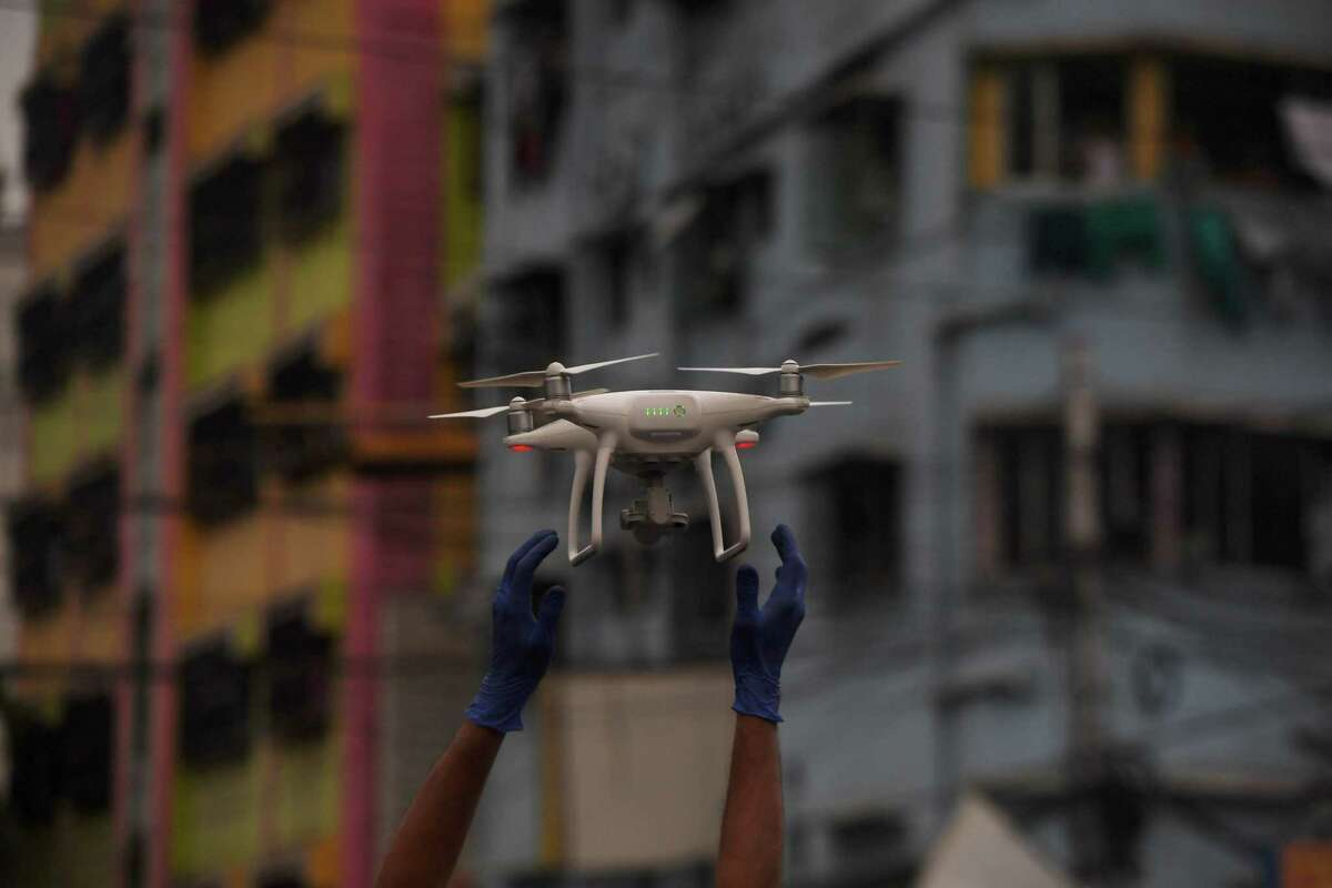 The town of Westport pulled plans to launch a drone program to monitor crowds in an effort to help prevent the spread of the coronavirus. The concept of using drones to watch over communities has drawn mixed reactions.