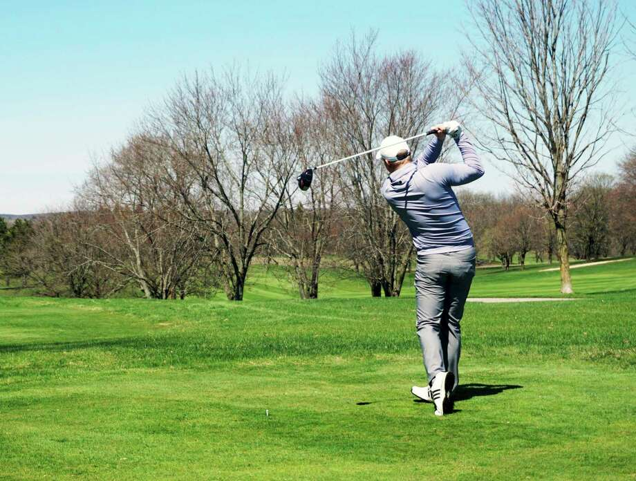 Local golfers flocked to Katke Golf Course for its first day back in business since the loosening of outdoor restrictions. (Pioneer photos/Joe Judd)