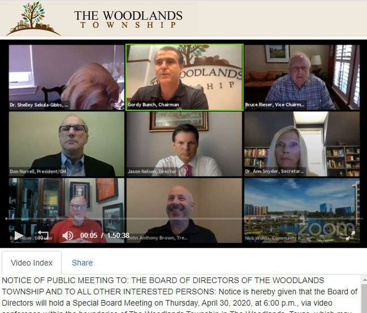 The Woodlands Township Board of Directors will tackled many issues during the Wednesday, June 17, meeting including issuing a proclamation supporting inclusion and diversity - the third such statement issues in the past four years - as well as a discussion of use of force policies employed by the Montomery County Sheriff's Office, which patrols the township on a contracted model of service. The meeting, scheduled for 6 p.m., is set to be hosted online again in a Zoom video conference format.