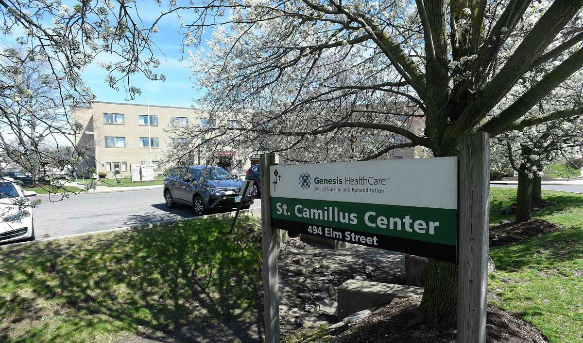 The St. Camillus Center on Elm Street in Stamford, Connecticut on April 2, 2020.