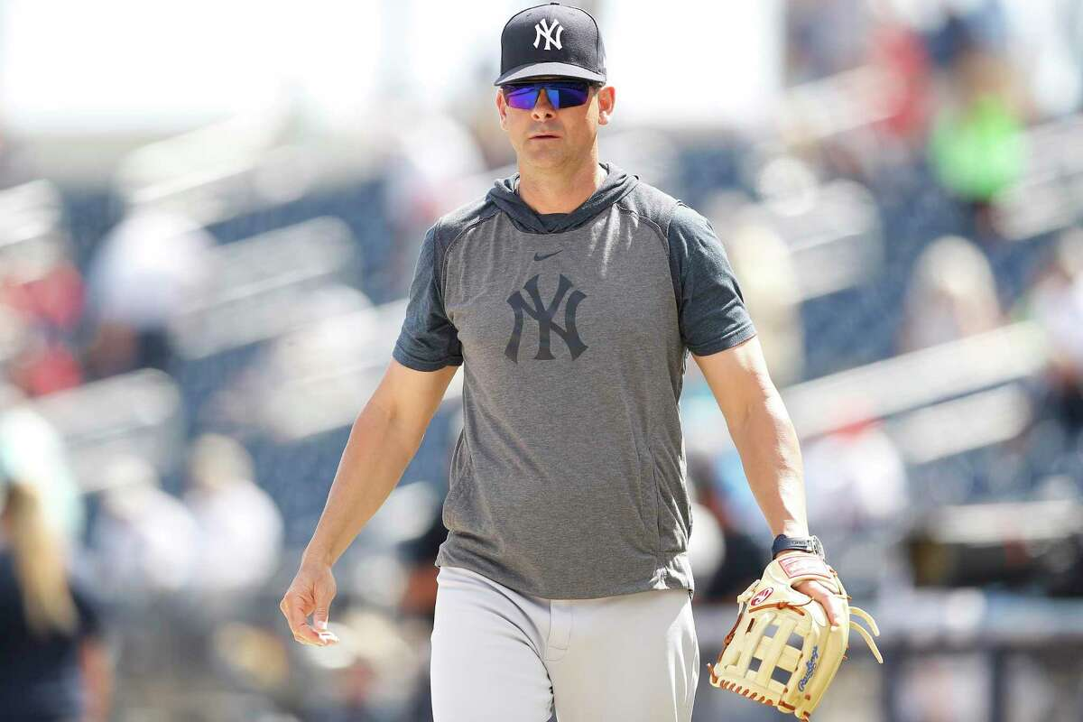New York Yankees manager and Greenwich resident Aaron Boone joined a group of Cannons players on a Zoom meeting last week.