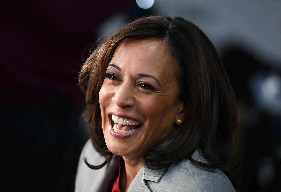Sen. Kamala Harris, D-CA is the favorite to become the 2020 Democratic running mate at 34 cents on the dollar, on PredictIt's exchange market. Photo: Saul Loeb / AFP
