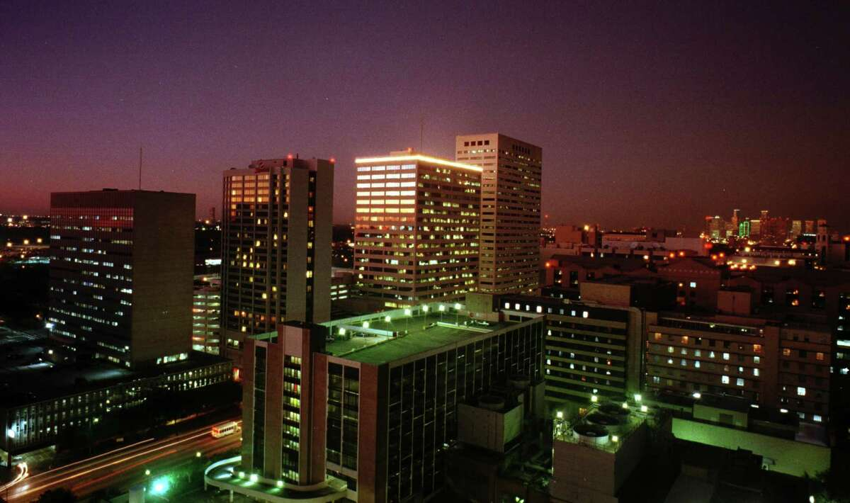 Fannin Street as it runs through the Texas Medical Center in shown in this archive photo from 1999. In the foreground is Houston Methodist Hospital.