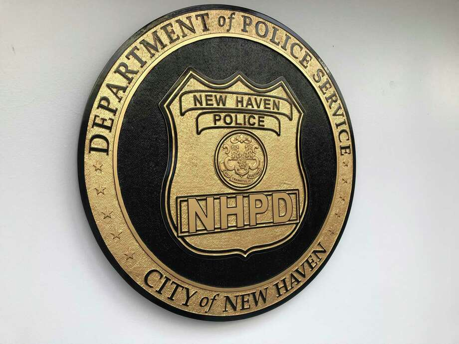 The New Haven Police Department seal. Photo: Ben Lambert / Hearst Connecticut Media