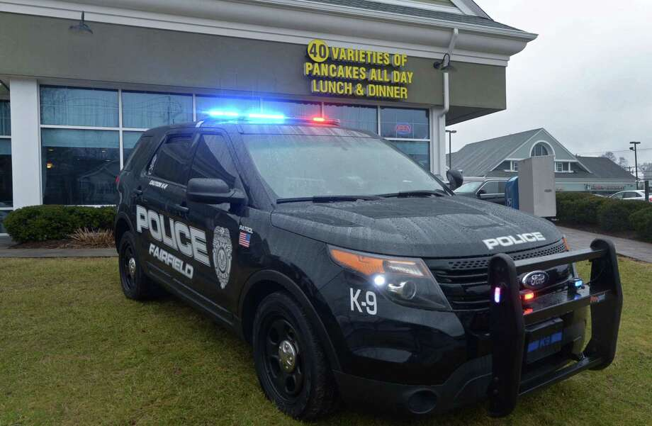 A Fairfield Police vehicle at a 2018 Tip-A-Cop event. Photo: Erik Trautmann / Hearst Connecticut Media / Norwalk Hour