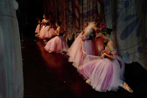 """Beaumont Civic Ballet members take to the stage at the Julie Rogers Theatre Friday, performing the first act of its 48th annual performance of """"The Nutcracker"""" for two school groups in the morning, followed by a second act full dress rehearsal. The holiday classic will have two showings this weekend - Saturday and Sunday at 2:30 p.m. Photo taken Friday, December 13, 2019 Kim Brent/The Enterprise"""