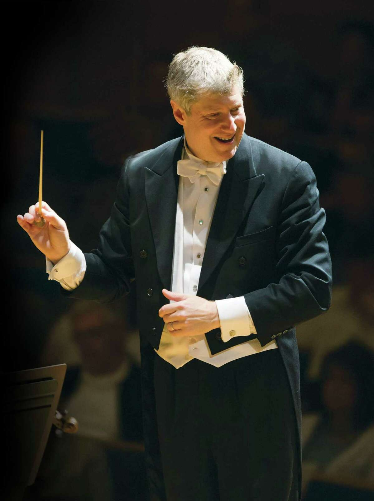 """Michael Stern conducts the Stamford Symphony, which recently dedicated a performance of """"Amazing Grace"""" to front-line health care workers. Each musician's solo recording, done from home, was stitched into an inspiring video by operations manager Tony Melone. Stern says Melone is """"our resident genius in all departments"""" and a pianist who understands music and technology."""